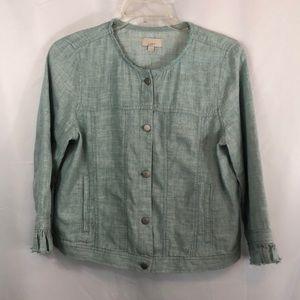 Loft Linen blend light weight jacket. Large